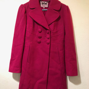 Pink Juicy Couture Wool coat